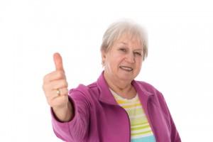 http://www.dreamstime.com/stock-image-female-senior-thumb-up-friendly-image37850601